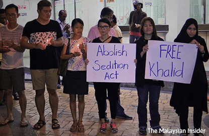 PSM holds vigil for activist detained under Sedition Act