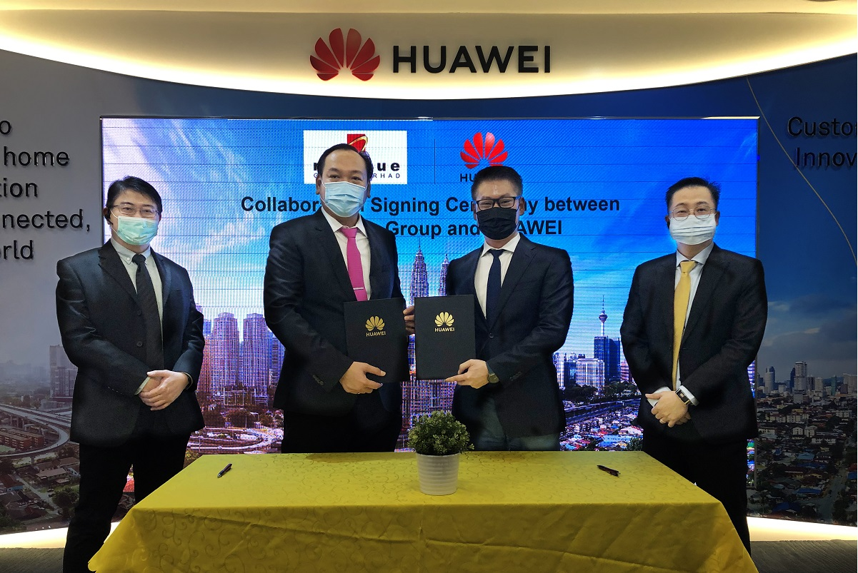 From left: Revenue executive director Lai Wei Keat, Revenue managing director and group CEO Datuk Eddie Ng Chee Siong, Huawei Malaysia vice president of Malaysia cloud and AI business group Lim Chee Siong and Huawei Malaysia head of Huawei cloud Malaysia Tan Kuan Thye. (Photo by Revenue and Huawei)