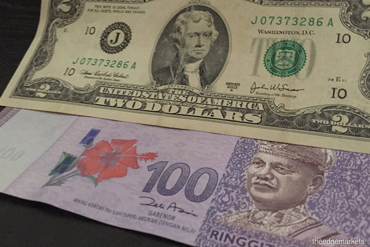 Ringgit moderately higher amid firmer crude oil prices