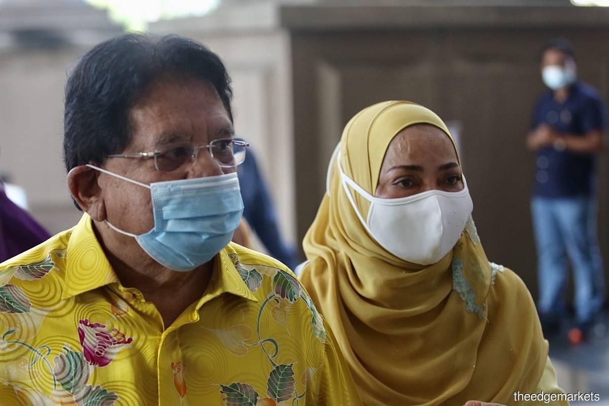 Tengku Adnan and his wife Anggraini Sentiyaki (Photo by Sam Fong/The Edge)