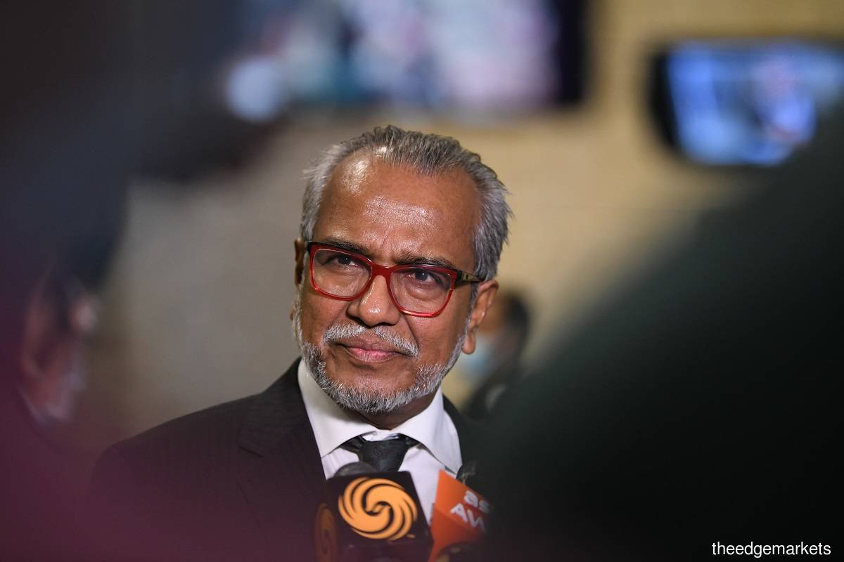 The judges have ruled that there would be no order to cost for Shafee (pic) in the hearing via Zoom proceedings this morning. (Photo by Patrick Goh)