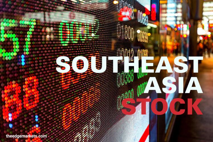 SE Asian stocks fall in lacklustre trade