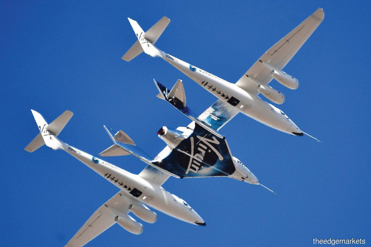 Branson's Virgin Galactic listed last year through a reverse merger with a SPAC. (Photo by Reuters)