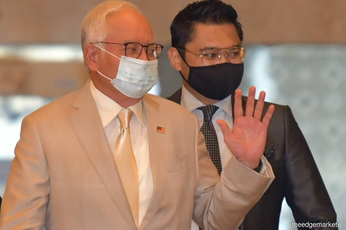 Datuk Seri Najib Razak at the Court of Appeal today at the Palace of Justice, Putrajaya (Photo by Suhaimi Yusuf/The Edge)