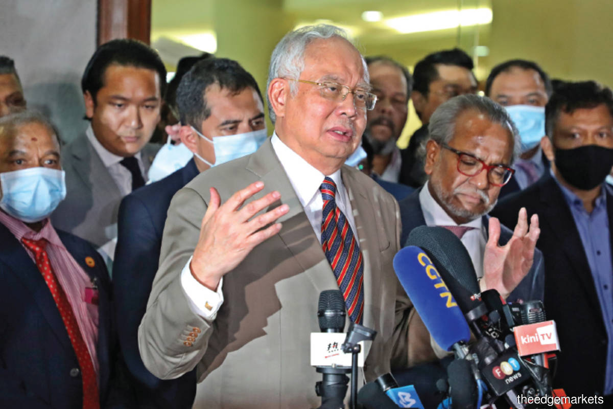 Najib: I want to continue the effort to clear my name and I shall continue this struggle. (Photo by Reuters)