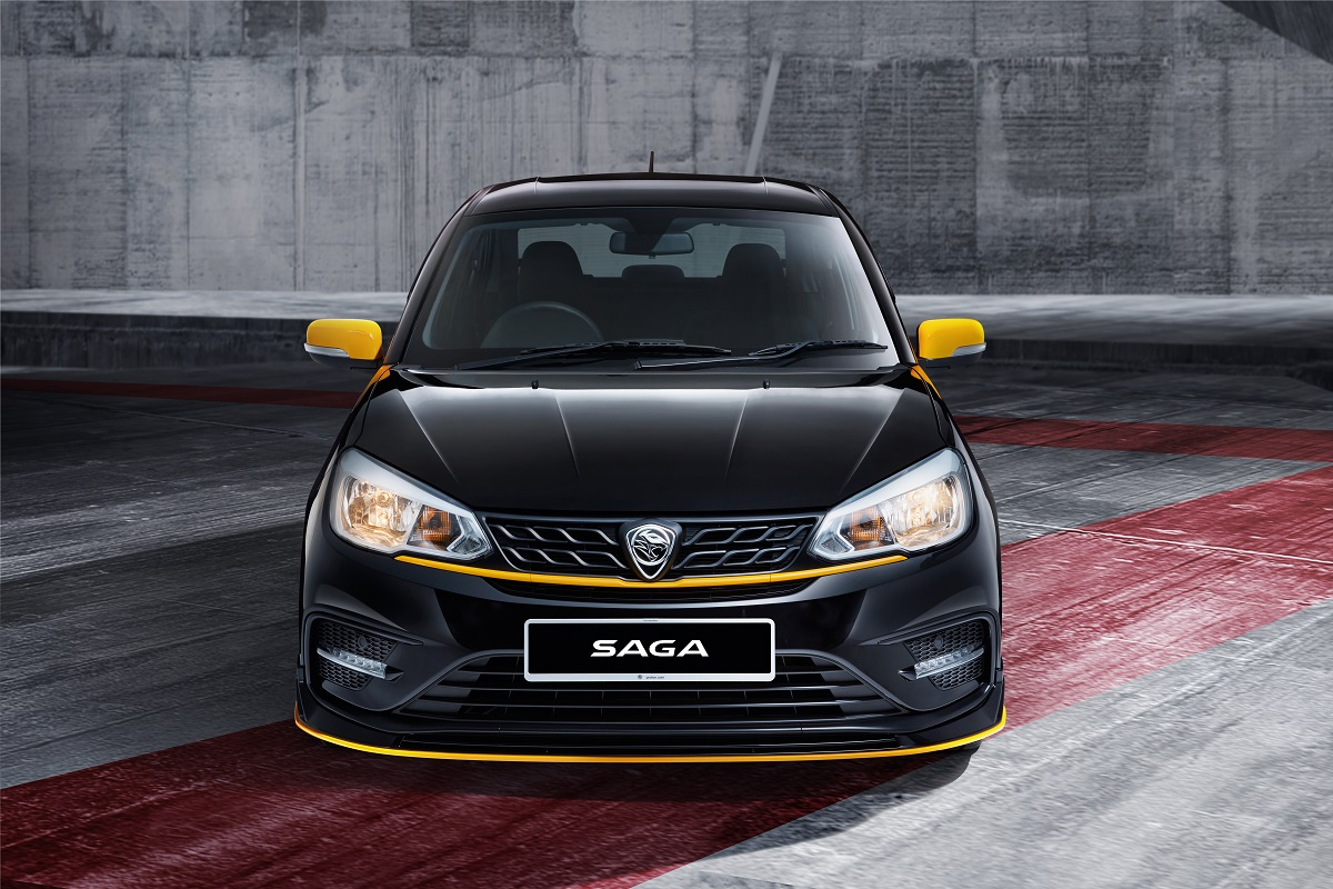 Proton says 1,100 units of the Saga Anniversary Edition will be made available exclusively in black with yellow highlights on both the exterior and interior of the car.