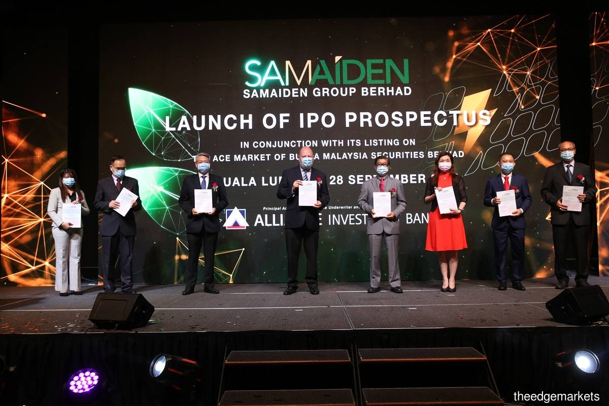 The launch ceremony of Samaiden's IPO prospectus in Kuala Lumpur on Sept 28. (Photo by Sam Fong/The Edge)