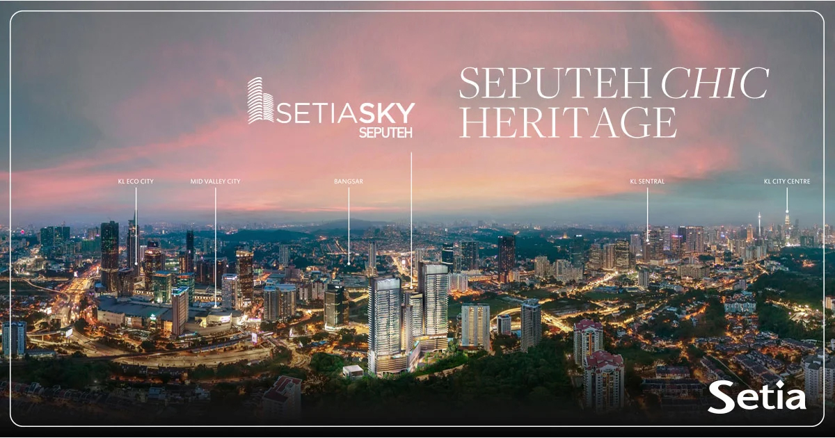Aerial view of the Setia Sky Seputeh development