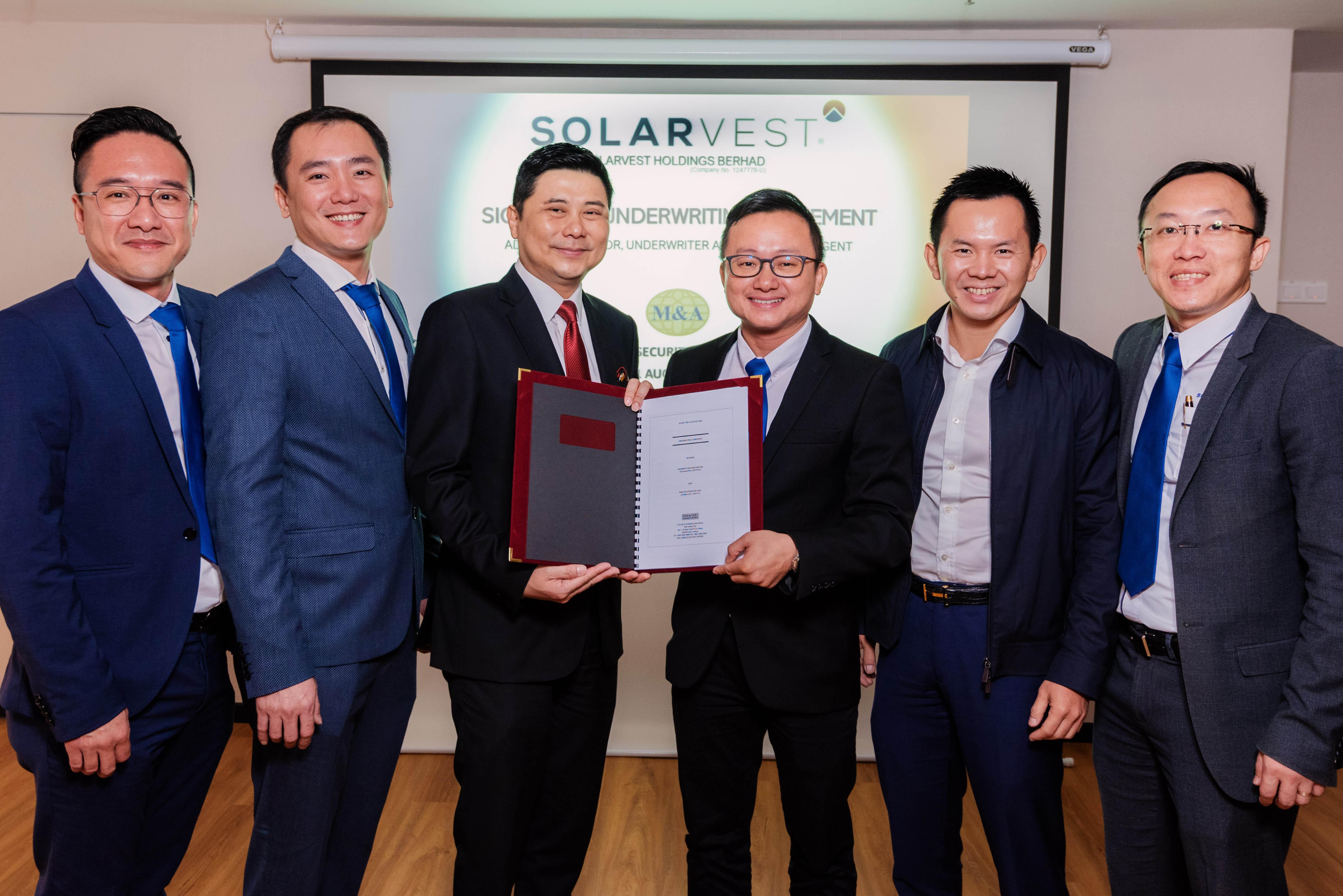 Solarvest与M&A证券签署IPO包销协议