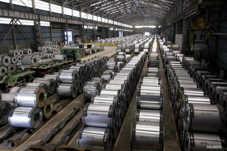 Steel stocks rise on Chinese rebar price gains