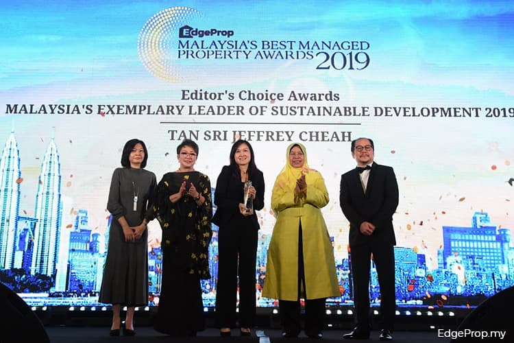 Sunway Property and Jeffrey Cheah recognised for commitment to sustainability