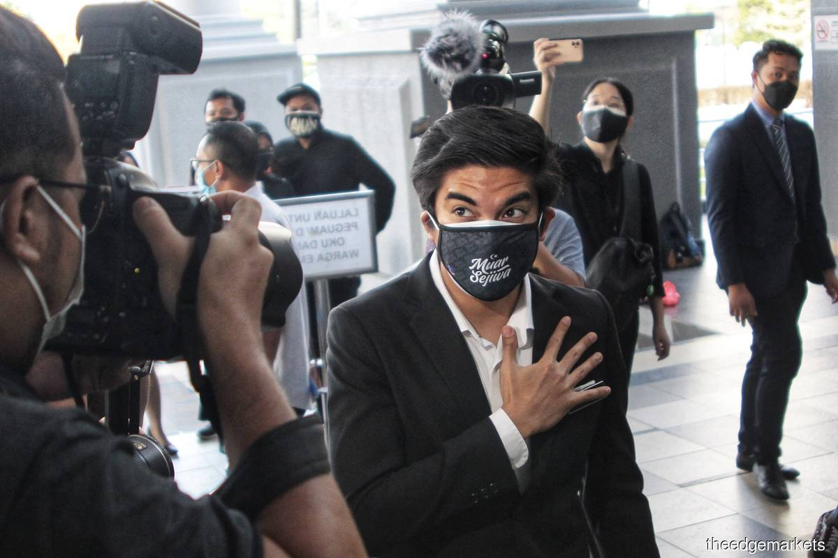 Syed Saddiq pleads not guilty to misappropriating RM1m of Bersatu funds | The Edge Markets