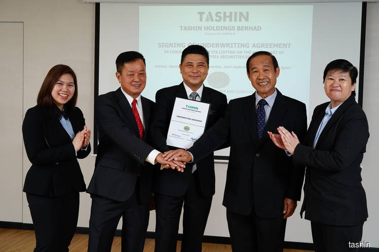 M&A Securities, Malacca Securities, JF Apex Securities underwrite 43.62 mil new shares in Tashin's IPO