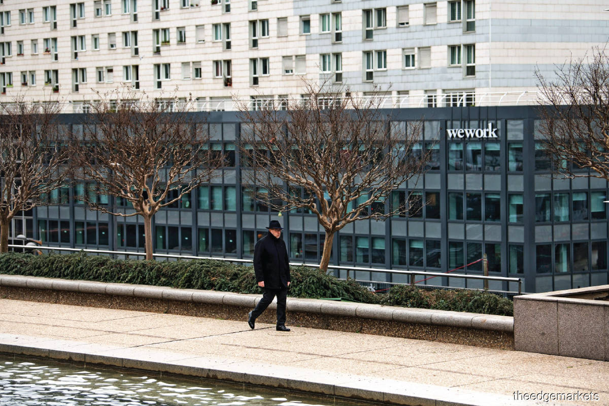 WeWork's co-working space in the La Defense business district in Paris. (Photo by Bloomberg)