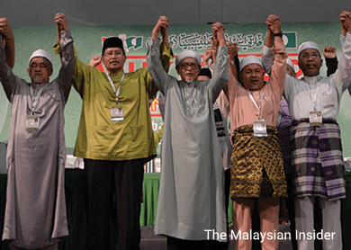 The new PAS leadership, voted in last week, will have to decide how to pursue electoral success and power while hanging on to religious doctrines. – The Malaysian Insider pic, June 8, 2015.