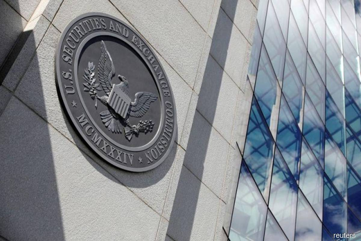 The seal of the US Securities and Exchange Commission (SEC) is seen at their headquarters in Washington, DC, US on May 12, 2021. (Photo by Andrew Kelly/Reuters)
