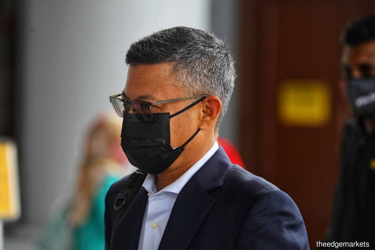 Former 1MDB chief executive officer (CEO) Mohd Hazem Abdul Rahman arrives at the Kuala Lumpur Court Complex for the 1MDB-Tanore trial which resumed today. (Photo bu Zahid Izzani/The Edge)