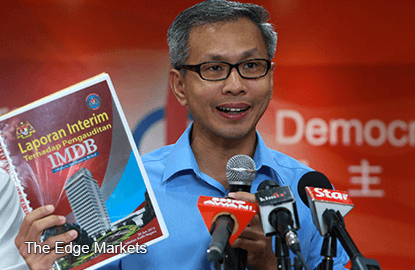 Malaysia's AG 'must explain' refusal to prosecute 1MDB officials - Tony Pua