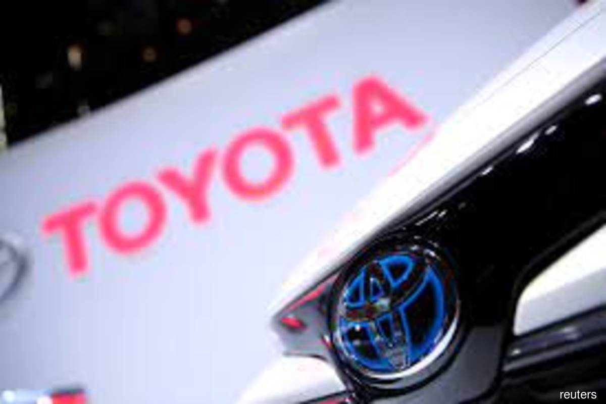 The Toyota logo is seen on a Corolla model at the 89th Geneva International Motor Show in Geneva, Switzerland on March 5, 2019. (Photo by Denis Balibouse/Reuters filepix)