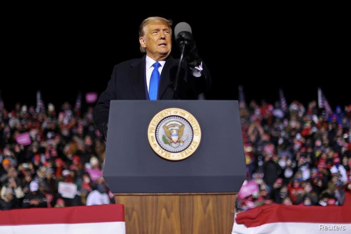 Trump questions counting late ballots as Biden preaches unity in Georgia