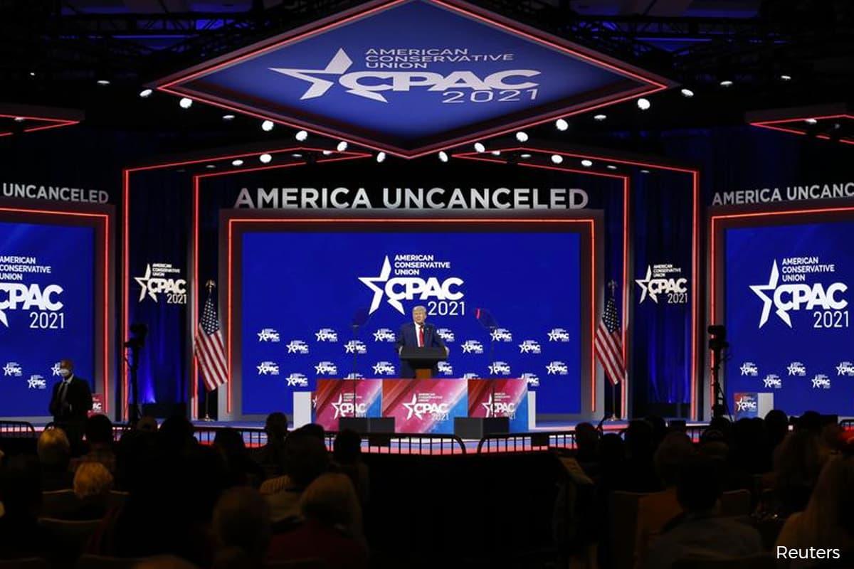 Trump repeats election lie, declares himself future of Republican Party