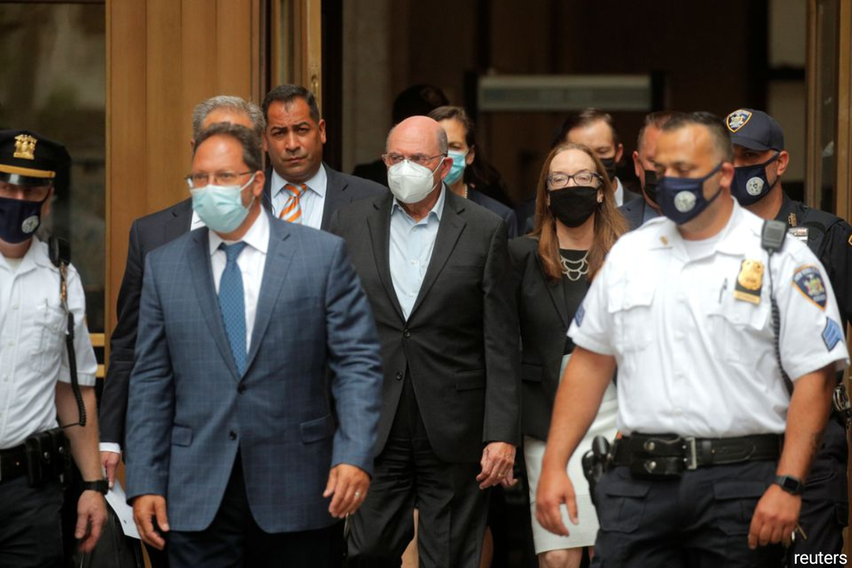 Trump Organization chief financial officer Allen Weisselberg exits after his arraignment hearing in New York State Supreme Court in the Manhattan borough of New York City, New York, U.S.