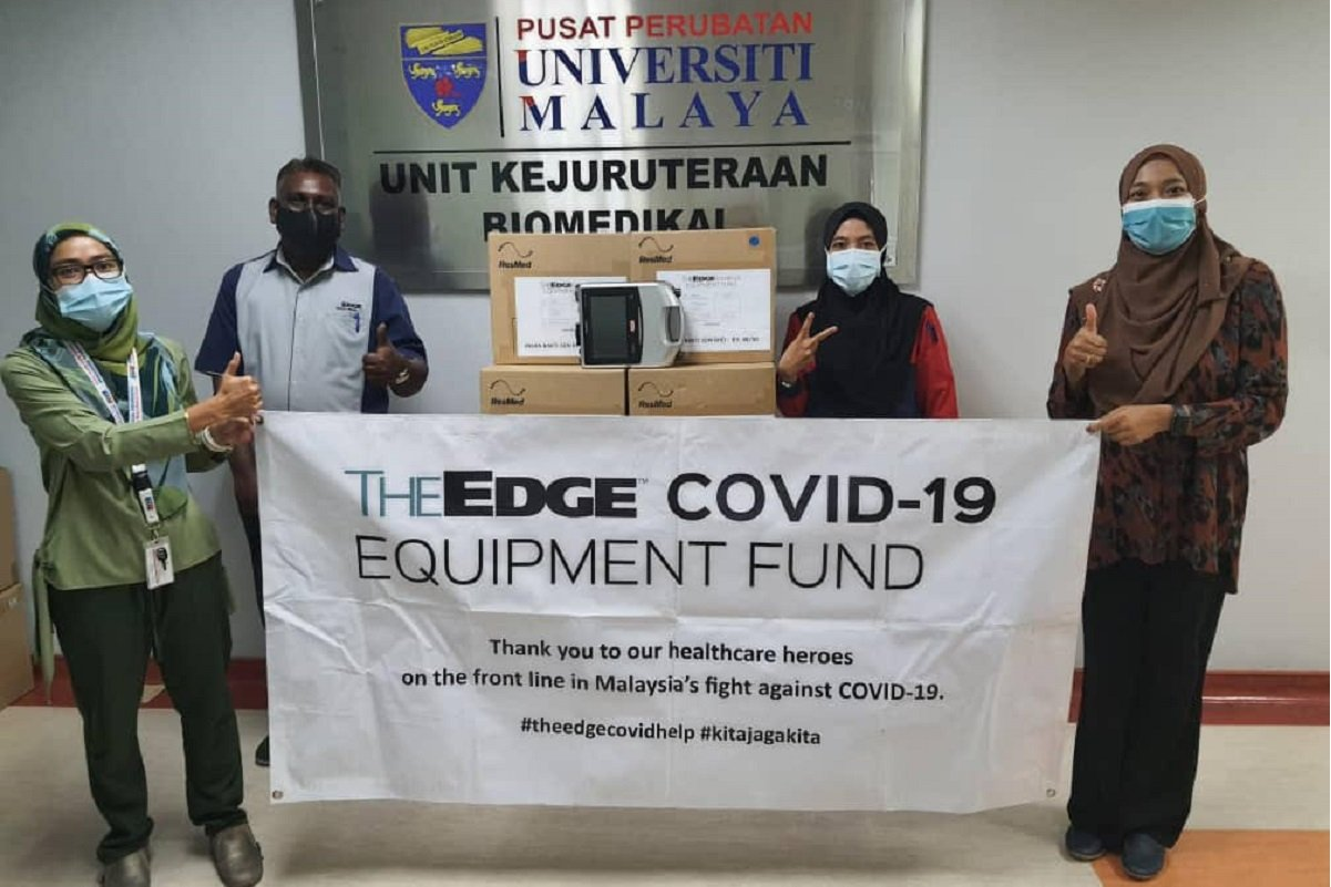 The Edge新冠肺炎疫情基金向医院提供更多设备