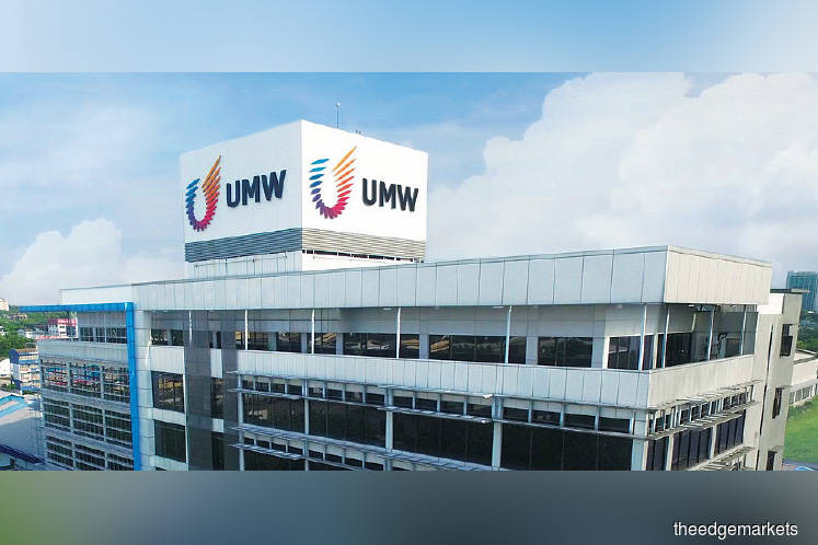 UMW down after announcing profit amendment