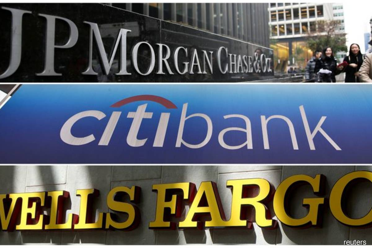 Company logos of JP Morgan Chase Bank, Citibank and Wells Fargo & Co bank are seen in this collage. (Reuters filepix)