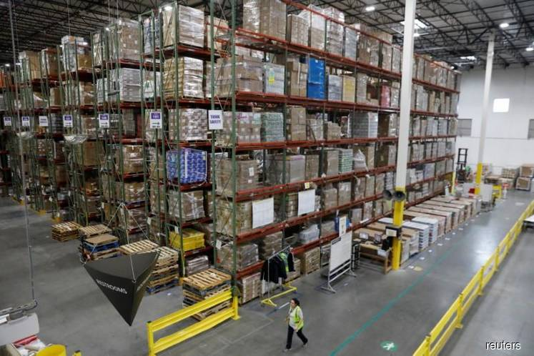U.S. business inventories fall in February