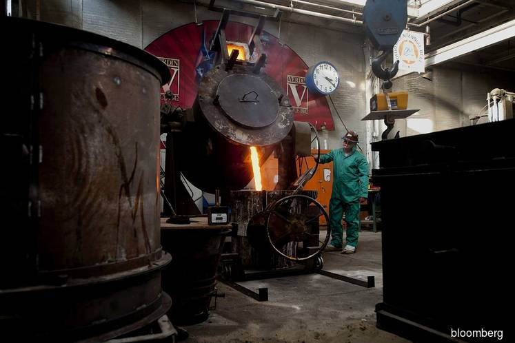 U.S. factory output falls for a third time in four months
