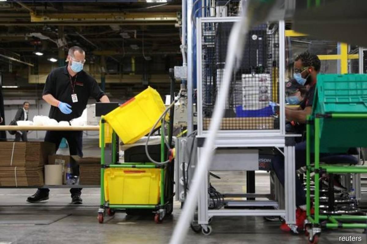 US manufacturing growth cooling; bottlenecks starting to abate