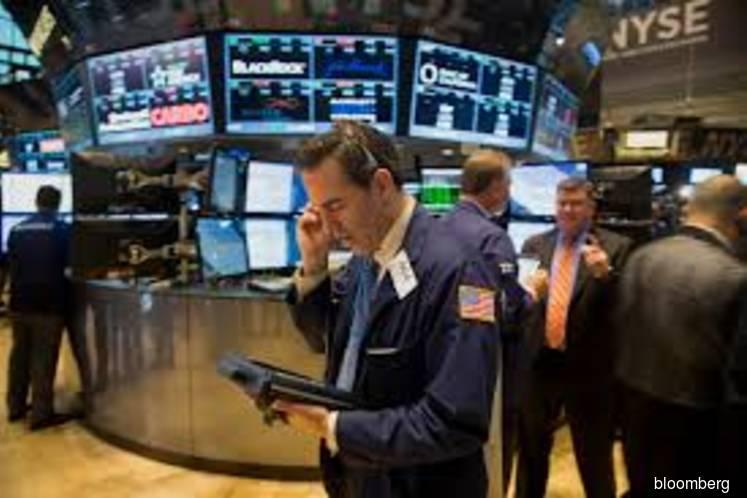 US stocks decline, bonds trim gains on Fed comments