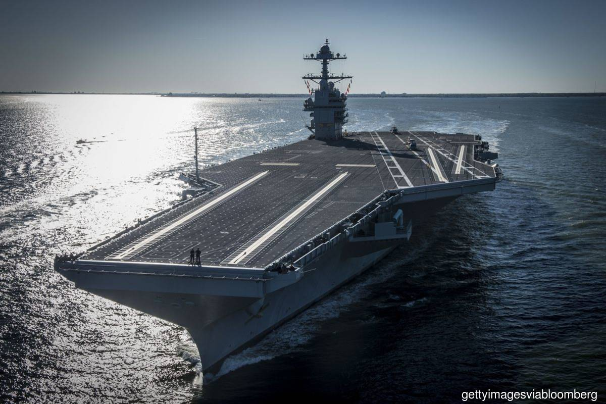 USS Gerald R. Ford (Photo by Ridge Leoni/US Navy/Getty Images)