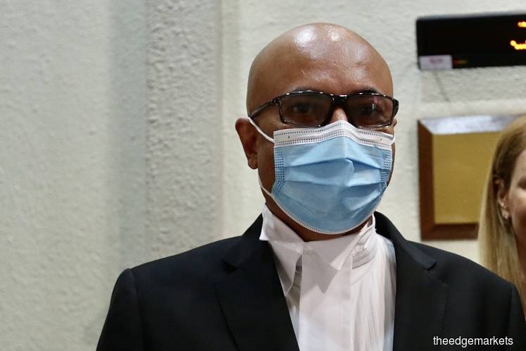 Umno's lawyer Datuk Hariharan Tara Singh. (Photo by The Edge Markets)