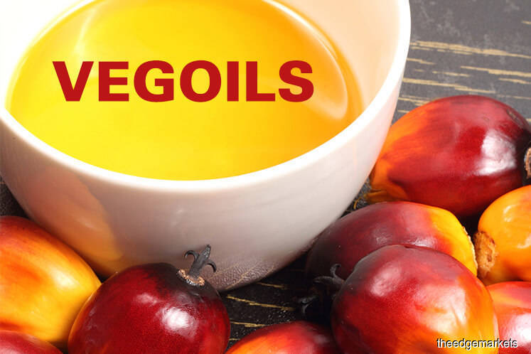 Palm slides over 1% on weaker related oils