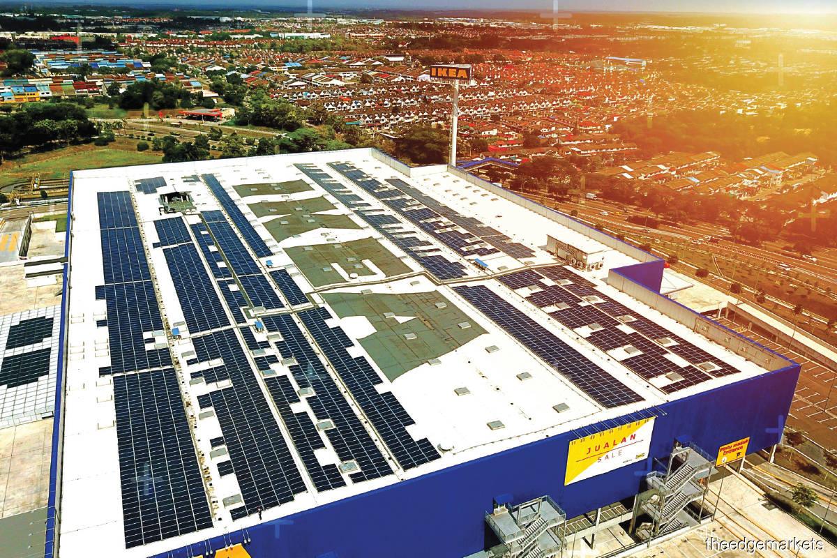 Plus Xnergy installed solar panels for IKEA Batu Kawan in Penang in 2018