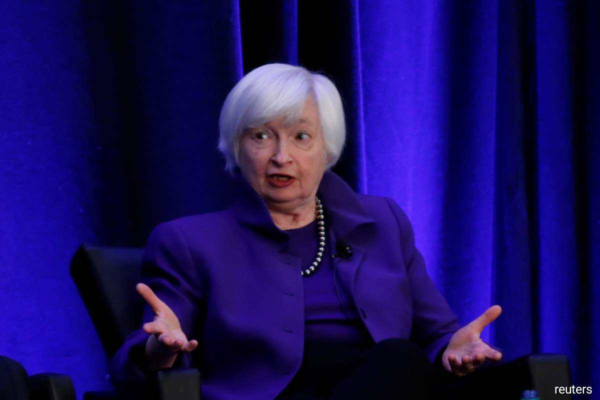 The initial comments made by Yellen, a former Federal Reserve chair, deepened a sell-off in tech stocks and pushed longer-dated Treasury yields higher.