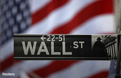 Wall St slips on earnings; Apple falls late after results
