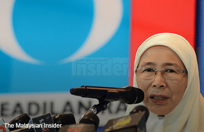 Wan Azizah to table motion of no confidence against Najib
