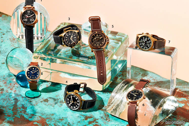 Watches: Bronze watches age with their owners