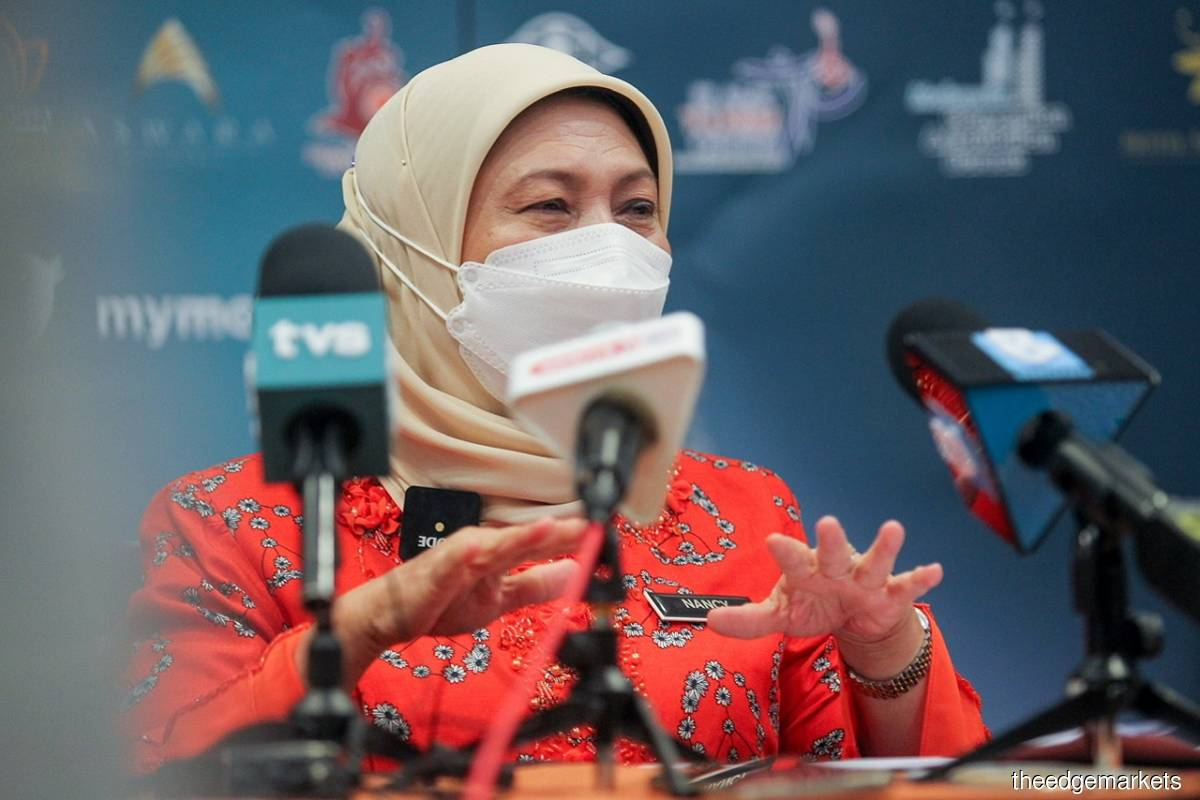 Datuk Seri Nancy Shukri (Photo by Shahrill Basri/The Edge filepix)