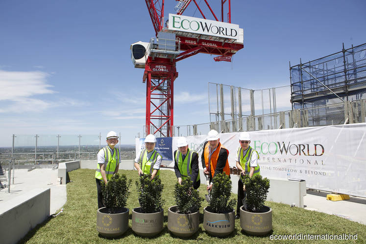 EcoWorld International tops out first Australian project