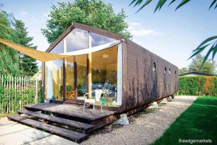 Doing good: Durable cardboard house