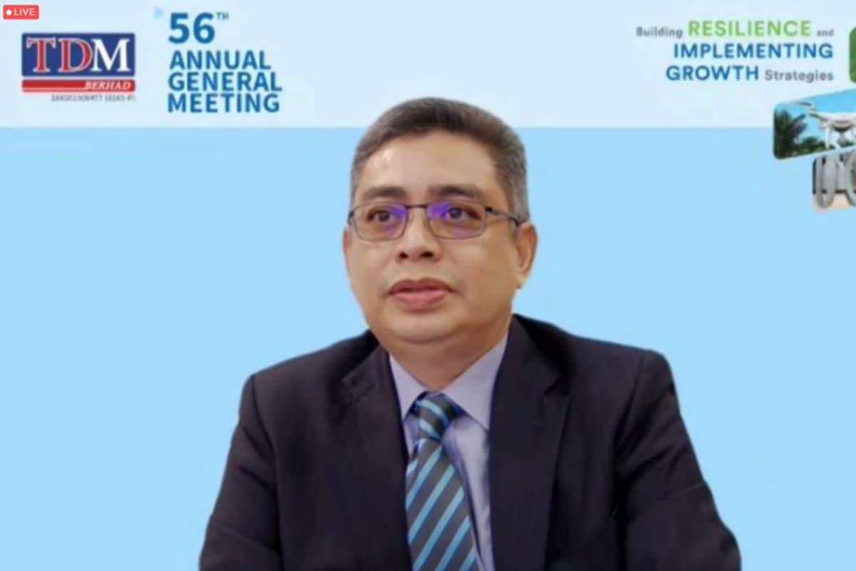 Tuan Haji Burhanudin Hilmi bin Mohamed @ Harun, chairman of TDM Bhd