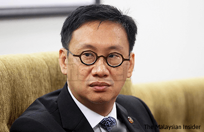 Wong Chen admits mistake in naming Deutshe Bank manager in parliamentary question