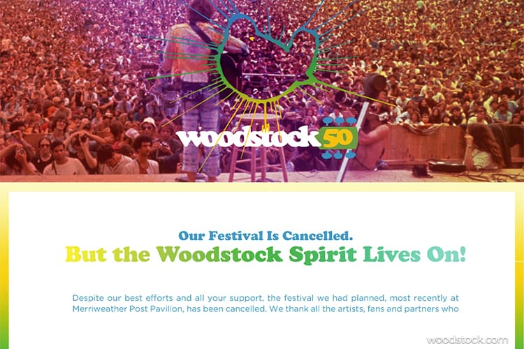 Woodstock 50 Is Canceled After Many of the Performers Back Out