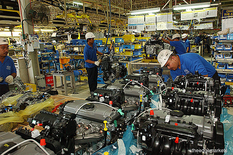 Higher manufacturing output in January