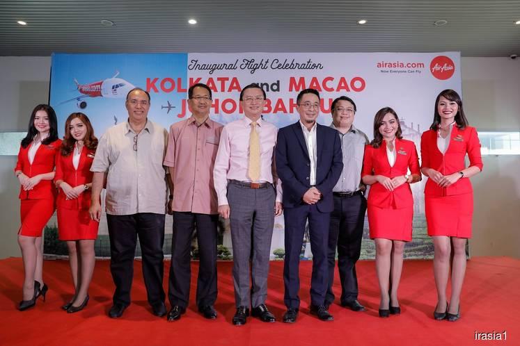 AirAsia begins flights from Johor Baru to Macau, Kolkata