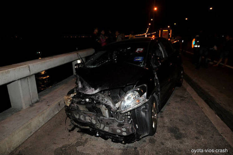 Driver of Toyota Vios in Penang Bridge collisiion released on police bail